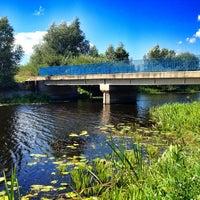 Photo taken at Mostek na kanale by Piotr D. on 8/25/2013