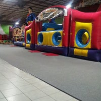 Photo taken at Bounce House Williamsburg by Monica P. on 3/21/2013