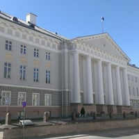 Photo taken at University of Tartu main building by Dmitriy S. on 5/5/2013