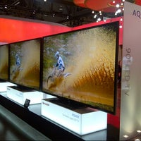 Photo taken at The Sharp Electronics Booth # 10916 by @VegasBiLL on 1/8/2013