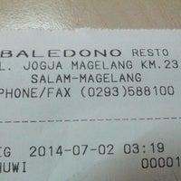Photo taken at Rumah Makan Baledono by W. A. P. on 7/1/2014