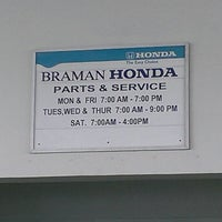 ... Photo Taken At Braman Honda By Janet F. On 9/3/2013 ...