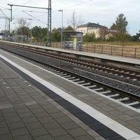 Photo taken at Bahnhof Roßlau (Elbe) by Thorsten K. on 10/21/2014