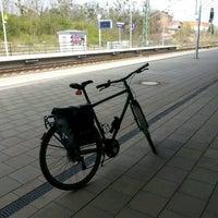 Photo taken at Bahnhof Roßlau (Elbe) by Thorsten K. on 4/4/2017