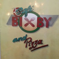 Photo taken at Cafe Bixby And Pizza by Cort H. on 3/27/2013