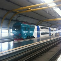 Photo taken at Fiumicino Airport Railway Station (ZRR) by Benjamin Meukow L. on 9/22/2012