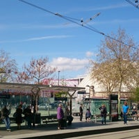 Photo taken at Station Porte de Versailles [T2,T3a] by Nic G. on 4/18/2013