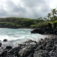 Photo taken at Black Sand Beach by Brittany L. on 11/28/2012
