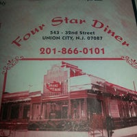 Photo taken at Four Star Diner Union City by Betsy C. on 7/20/2013