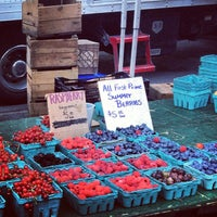 Photo taken at Tucker Square Greenmarket by katie z. on 7/18/2013