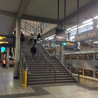 Photo Taken At Olympic Park Station Platforms 2 Ampamp 3 By