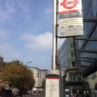 Photo taken at Bus Stop SM - New Change Cannon Street by Alan T. on 9/19/2014