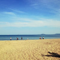 Photo taken at Централен Плаж Бургас (Burgas Central Beach) by Plamen K. on 4/28/2013