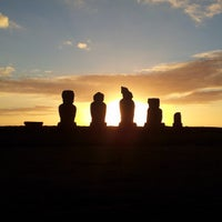 Photo taken at Easter Island by Erika Marques - B. on 5/27/2013