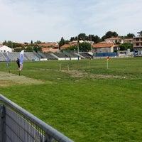 Photo taken at Stade de Rugby Jean Sabathé by Hervé L. on 6/7/2014