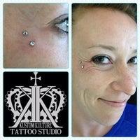 Photo taken at Kustom Kulture Tattoo Studio by Allan B. on 5/31/2014