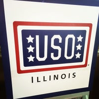 Photo taken at Chicago O'Hare USO by Aaron T. on 1/11/2014