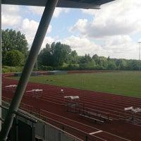 Photo taken at Hillingdon Athletics stadium by Dylan T. on 6/11/2014