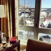 Photo taken at Le Westin Resort & Spa, Tremblant, Quebec by Charles G. on 2/25/2016