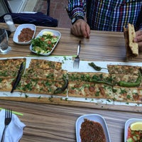 Photo taken at konya etli ekmek edremit by Cevat K. on 4/27/2015