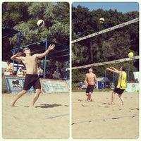 Photo taken at Elagin Volleyball Beach Resort by Kai K. on 7/27/2013