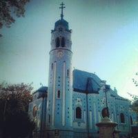 Photo taken at Kostol sv. Alžbety (The Blue Church) by Marko S. on 10/21/2012