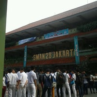 Photo taken at SMAN 28 Jakarta by Akbar S. on 6/16/2014
