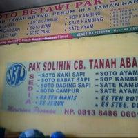 Photo taken at Soto Betawi Pak Solihin by Marshal B. on 8/24/2013