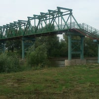 Photo taken at Мост через р. Тойма by Xenia F. on 7/28/2013