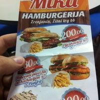 Photo taken at Hamburgerija Mika by Goran V. on 4/14/2014
