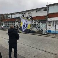 Photo taken at Omladinski stadion   OFK Beograd by Mr. T. on 2/10/2018