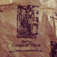 Photo taken at Forno Campo de' Fiori by Cuisine e. on 5/15/2013