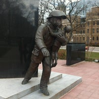 Photo taken at Ontario Fire Fighters Memorial by Andy H. on 4/14/2013