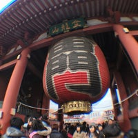 Photo taken at Kaminarimon Gate by Hidemi M. on 1/5/2013