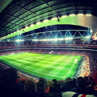 Photo taken at Emirates Stadium by mike l. on 1/31/2013