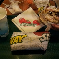 Photo taken at SUBWAY by Aimiey N. on 10/12/2012