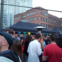 Photo taken at Rooftop @ Queen Of Hoxton by Catarina on 6/15/2013