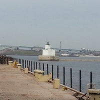 Photo taken at Milwaukee Breakwater Lighthouse by William M. on 4/29/2013