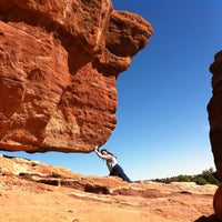Photo taken at Balanced Rock At Garden Of The Gods by Dulcenea on 10/8/2012