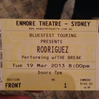 Photo taken at Enmore Theatre by Rameil on 3/19/2013