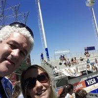 Photo taken at Estadio Hockey by Facundo de Salterain C. on 12/4/2014