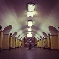 Photo taken at metro Rizhskaya by Kirill S. on 7/17/2013