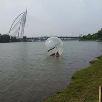 Photo taken at Water Ball in Presint 2 at Putra Jaya by Azlie J. on 3/30/2013