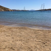 Photo taken at Agriolivadi beach by Deniz T. on 9/2/2017