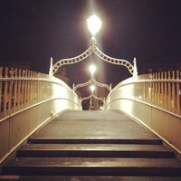 Photo taken at The Ha'penny (Liffey) Bridge by Marc P. on 12/17/2012