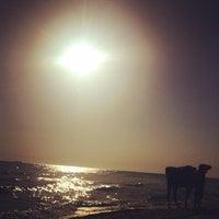 Photo taken at Beach by Miya M. on 9/1/2014