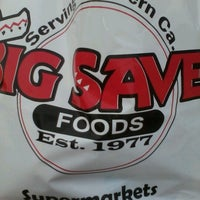 Photo taken at Big Saver Foods by Angela C. on 10/10/2012