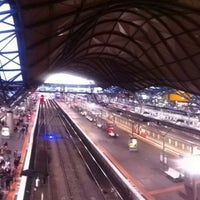 Photo taken at Southern Cross Station by Ian T. on 4/25/2013