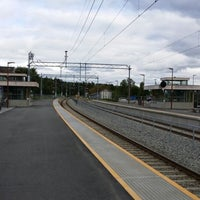 Photo taken at Moelv stasjon by Kevin C. on 6/29/2014