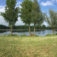 Photo taken at lac du bocage by Jacopo T. on 7/9/2017
